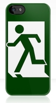 Running Man Fire Safety Exit Sign Emergency Evacuation Apple iPhone 5 Mobile Phone Case 11