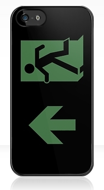 Running Man Fire Safety Exit Sign Emergency Evacuation Apple iPhone 5 Mobile Phone Case 110