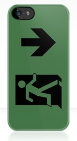 Running Man Fire Safety Exit Sign Emergency Evacuation Apple iPhone 5 Mobile Phone Case 111