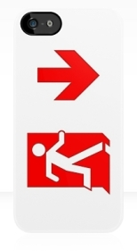 Running Man Fire Safety Exit Sign Emergency Evacuation Apple iPhone 5 Mobile Phone Case 112