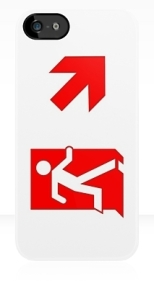 Running Man Fire Safety Exit Sign Emergency Evacuation Apple iPhone 5 Mobile Phone Case 113
