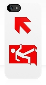 Running Man Fire Safety Exit Sign Emergency Evacuation Apple iPhone 5 Mobile Phone Case 114
