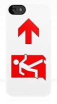 Running Man Fire Safety Exit Sign Emergency Evacuation Apple iPhone 5 Mobile Phone Case 115