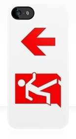 Running Man Fire Safety Exit Sign Emergency Evacuation Apple iPhone 5 Mobile Phone Case 116