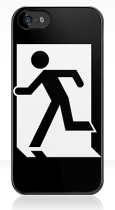 Running Man Fire Safety Exit Sign Emergency Evacuation Apple iPhone 5 Mobile Phone Case 117