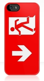 Running Man Fire Safety Exit Sign Emergency Evacuation Apple iPhone 5 Mobile Phone Case 118