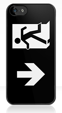 Running Man Fire Safety Exit Sign Emergency Evacuation Apple iPhone 5 Mobile Phone Case 119