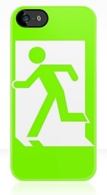 Running Man Fire Safety Exit Sign Emergency Evacuation Apple iPhone 5 Mobile Phone Case 12