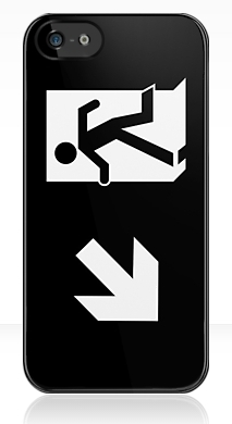 Running Man Fire Safety Exit Sign Emergency Evacuation Apple iPhone 5 Mobile Phone Case 120