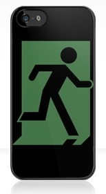 Running Man Fire Safety Exit Sign Emergency Evacuation Apple iPhone 5 Mobile Phone Case 121