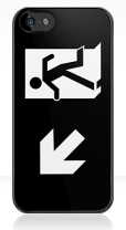 Running Man Fire Safety Exit Sign Emergency Evacuation Apple iPhone 5 Mobile Phone Case 122