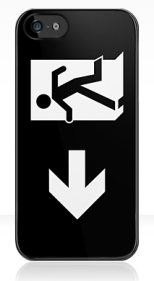 Running Man Fire Safety Exit Sign Emergency Evacuation Apple iPhone 5 Mobile Phone Case 123