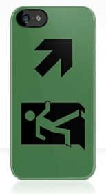 Running Man Fire Safety Exit Sign Emergency Evacuation Apple iPhone 5 Mobile Phone Case 124