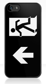 Running Man Fire Safety Exit Sign Emergency Evacuation Apple iPhone 5 Mobile Phone Case 125