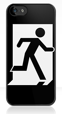 Running Man Fire Safety Exit Sign Emergency Evacuation Apple iPhone 5 Mobile Phone Case 126