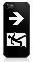 Running Man Fire Safety Exit Sign Emergency Evacuation Apple iPhone 5 Mobile Phone Case 127