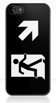 Running Man Fire Safety Exit Sign Emergency Evacuation Apple iPhone 5 Mobile Phone Case 128