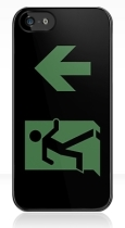 Running Man Fire Safety Exit Sign Emergency Evacuation Apple iPhone 5 Mobile Phone Case 13