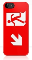 Running Man Fire Safety Exit Sign Emergency Evacuation Apple iPhone 5 Mobile Phone Case 130