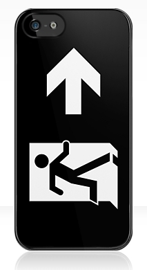 Running Man Fire Safety Exit Sign Emergency Evacuation Apple iPhone 5 Mobile Phone Case 131