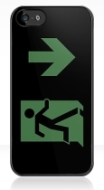 Running Man Fire Safety Exit Sign Emergency Evacuation Apple iPhone 5 Mobile Phone Case 132