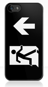 Running Man Fire Safety Exit Sign Emergency Evacuation Apple iPhone 5 Mobile Phone Case 133