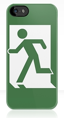 Running Man Fire Safety Exit Sign Emergency Evacuation Apple iPhone 5 Mobile Phone Case 134