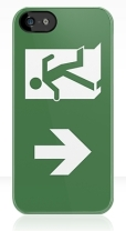 Running Man Fire Safety Exit Sign Emergency Evacuation Apple iPhone 5 Mobile Phone Case 135
