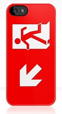 Running Man Fire Safety Exit Sign Emergency Evacuation Apple iPhone 5 Mobile Phone Case 137