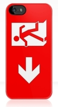 Running Man Fire Safety Exit Sign Emergency Evacuation Apple iPhone 5 Mobile Phone Case 138