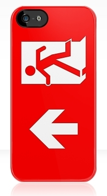 Running Man Fire Safety Exit Sign Emergency Evacuation Apple iPhone 5 Mobile Phone Case 139