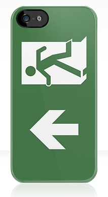Running Man Fire Safety Exit Sign Emergency Evacuation Apple iPhone 5 Mobile Phone Case 14
