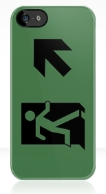 Running Man Fire Safety Exit Sign Emergency Evacuation Apple iPhone 5 Mobile Phone Case 140