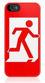 Running Man Fire Safety Exit Sign Emergency Evacuation Apple iPhone 5 Mobile Phone Case 141