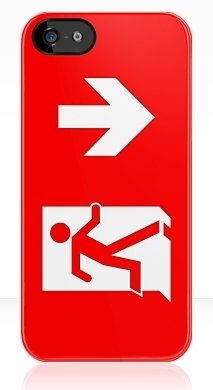 Running Man Fire Safety Exit Sign Emergency Evacuation Apple iPhone 5 Mobile Phone Case 142