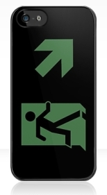 Running Man Fire Safety Exit Sign Emergency Evacuation Apple iPhone 5 Mobile Phone Case 143