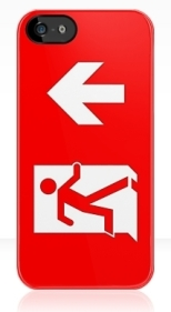 Running Man Fire Safety Exit Sign Emergency Evacuation Apple iPhone 5 Mobile Phone Case 144