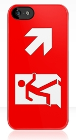 Running Man Fire Safety Exit Sign Emergency Evacuation Apple iPhone 5 Mobile Phone Case 145