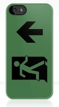 Running Man Fire Safety Exit Sign Emergency Evacuation Apple iPhone 5 Mobile Phone Case 146