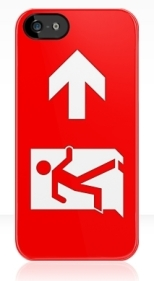 Running Man Fire Safety Exit Sign Emergency Evacuation Apple iPhone 5 Mobile Phone Case 147