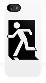 Running Man Fire Safety Exit Sign Emergency Evacuation Apple iPhone 5 Mobile Phone Case 148