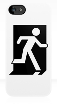 Running Man Fire Safety Exit Sign Emergency Evacuation Apple iPhone 5 Mobile Phone Case 149