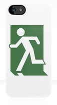 Running Man Fire Safety Exit Sign Emergency Evacuation Apple iPhone 5 Mobile Phone Case 150