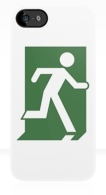 Running Man Fire Safety Exit Sign Emergency Evacuation Apple iPhone 5 Mobile Phone Case 151