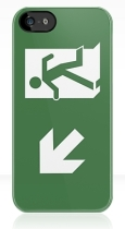 Running Man Fire Safety Exit Sign Emergency Evacuation Apple iPhone 5 Mobile Phone Case 152