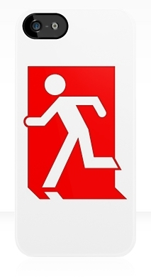 Running Man Fire Safety Exit Sign Emergency Evacuation Apple iPhone 5 Mobile Phone Case 153