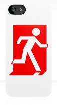 Running Man Fire Safety Exit Sign Emergency Evacuation Apple iPhone 5 Mobile Phone Case 155