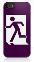 Running Man Fire Safety Exit Sign Emergency Evacuation Apple iPhone 5 Mobile Phone Case 156