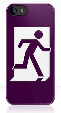 Running Man Fire Safety Exit Sign Emergency Evacuation Apple iPhone 5 Mobile Phone Case 157
