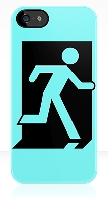Running Man Fire Safety Exit Sign Emergency Evacuation Apple iPhone 5 Mobile Phone Case 158